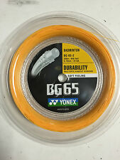 YONEX BG65 200M COIL BADMINTON STRING ORANGE COLOUR