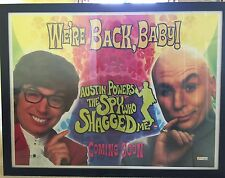 Austin powers movie poster framed  rare age tbc postage without frame
