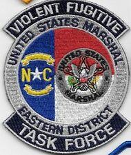 MARSHAL SERVICE VIOLENT FUGITIVE TASK FORCE NORTH CAROLINA NC USMS EASTERN DIST