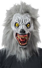 Halloween LifeSize Costume ALBINO WEREWOLF LATEX DELUXE MASK Haunted House NEW