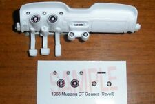 1968 FORD MUSTANG GT GAUGE FACES! - for 1/25 scale REVELL KITS