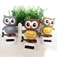 Solar Powered owl Dancing Toy Novelty Furnishing Article decoration