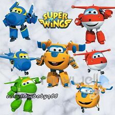 Super Wings Plane Wall Decals Removable sticker Kids Nursery Decor Mural Gifts