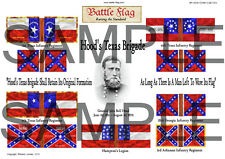 28mm ACW Wargame Flags by Battle Flag. Hood's Texas Brigade