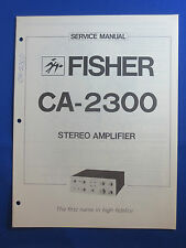 FISHER CA-2300 PREAMPLIFIER SERVICE MANUAL ORIGINAL GOOD CONDITION