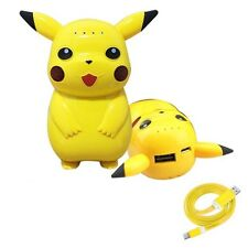 Pokemon Pikachu Power Bank Portable Phone Battery Charger iPhone Android