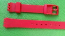 WATCH BAND BRACELET MONTRE*******PVC  rouge  *pour swatch****   14mm* REF CM13