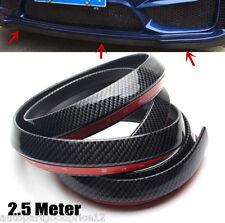 Black Carbon Fiber Car Front Bumper Chin Splitter Skirt Spoiler Lip Protector