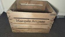 MARQUIS AVIGNON EUROPEAN OLD VINTAGE FRENCH WOODEN FARM APPLE CRATE BUSHELL BOX