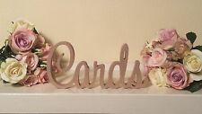 """Cards"" MDF Wooden Letters gift, wedding, birthday wood sign decoration"