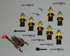 LEGO Minifigures 7 Soldiers Army Men Lot Military Rifles Minifig Guys Cannon War