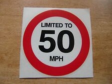 LIMITED TO 50 MPH - 120mm Decal - car / van / truck sticker