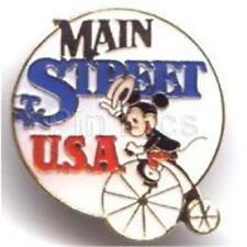MICKEY OLD FASHIONED BICYCLE MAIN STREET USA Small BROOCH STYLE DISNEY PIN 569