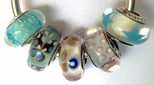 5X Authentic Pandora 925 ale  silver beads  charm folklore blue butterfly star