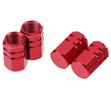 4PCS Aluminum Tire Wheel Rims Stem Air Valve Caps Tyre Cover Car Truck Bike Red