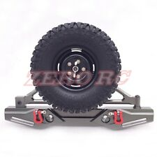 Axial SCX10 CNC Rear Bumper With Tire Carrier Shackles Fit Rc ROCK Crawler Jeep
