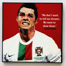 Ronaldo CR7 canvas quotes wall decals photo painting framed pop art poster #2
