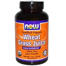 Now Foods, Organic, Wheat Grass Juice, 100 % Pure Juice Powder, 4 oz (113 g)