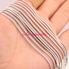 5Pcs Lot Womens Flat Snake Chain Necklace Stainless Steel 18inch Silver