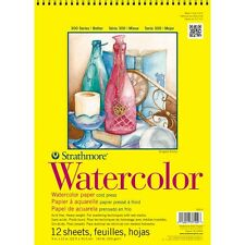 """Pro-Art 360900 Strathmore Watercolor Spiral Paper Pad 9""""X12"""" 12 Sheets NEW"""