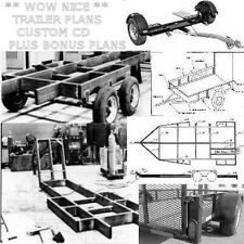 "UTILITY TRAILER PLANS CAR TRUCK TRACTOR HAULER FARM FLAT BED ""How To""  PDF CD"