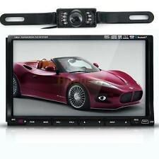 "GPS Double 2 Din 7"" In-Dash Car DVD Player Radio Stereo Bluetooth+Camera"
