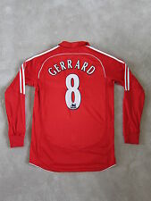 07-08 LIVERPOOL GERRARD Authentic Official Soccer Jersey Football shirt [S]
