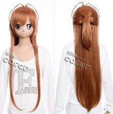 W-292 escuela secundaria of the Dead Rei Miyamoto marrón Brown 90cm cosplay peluca wig