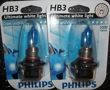 PHILIPS HB3 DIAMOND VISION 5000k HB3 PHILIPS DIAMOND VISION UPGRADE BULBS 9005