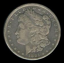 1891 US MORGAN LIBERTY 1 Dollar Silver Coin - Stock # 1