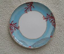 """Tropical Coral Ocean Design on 11"""" Plate Made in Italy"""