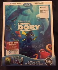 DISNEY FINDING DORY BLU RAY + DVD 69 PAGE ACTIVITY BOOK BEST BUY EXCLUSIVE