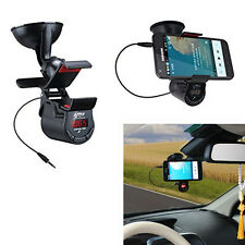 Multi-function In-Car Phone Holder FM Transmitter MP3 Player Hands-free Speaker