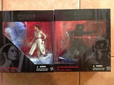 "Star Wars-The Force Awakens KYLO REN & REY STARKILLER BASE Black Series 6""-RARE"