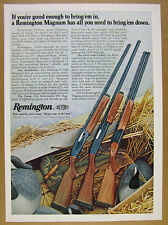 1977 Remington 1100 870 3200 Magnum Shotguns photo vintage print Ad