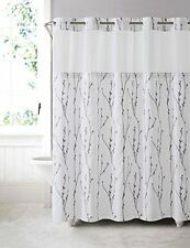 Arcs and Angles Hookless Cherry Bloom Shower Curtain With Peva Liner, White