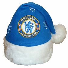 Chelsea FC Official Xmas Gift Christmas Santa Beanie Hat Blue