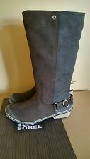 NEW! Sorel Slimboot Riding Tall Leather Knee High Boots, Brown Waterproof, 10.5