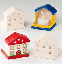 Paint Your Own House Ceramic Tealight Holder. Christmas Gift Stocking Filler