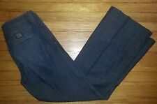 p2464 NWOT Sz 14/32 33x33 Blue LUCKY BRAND Distressed Wide Leg Designer Jeans!