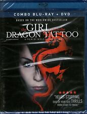 THE GIRL WITH THE DRAGON TATTOO-Blu Ray + DVD Pack-R1-BRAND NEW-Still Sealed