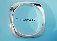 Tiffany & Co Sterling Silver Cushion Bangle Size MEDIUM