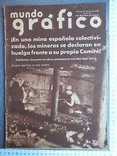 REVISTA MUNDO GRÁFICO 22/04/1936 HUELGAS REPÚBLICA EL AT. BILBAO CAMPEÓN LIGA