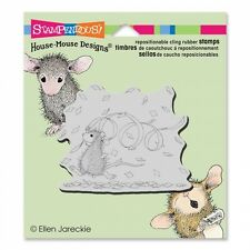 HOUSE MOUSE RUBBER STAMPS CLING CONFETTI FUN NEW STAMP 2015