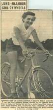 1953 June Campbell South Woodford Ideal Outdoor Girl Cyclist