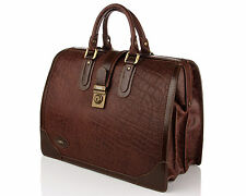 NEW MEN BRIEFCASE CASE BRAND sac de voyage en cuir Brown Case La KANZ originale