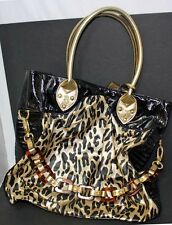 Betsey Johnson black & gold leopard Tote bag, never used, Betseyville