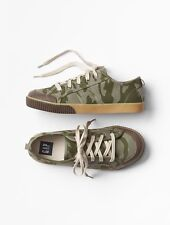 GAP Kids Boys NWT Size US 4 Youth / EU 34 Camo Canvas Lace-Up Sneakers Shoes