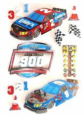 Race Cars Nascar Stage Race Track Cones Speed Indy 500 RC 3D Stickers