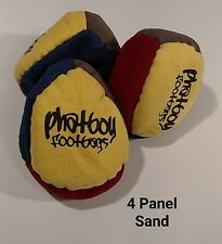 (SET OF 3)Phatboy 4 Panel SAND Filled HackySack Footbag Yellow/Grey/Red/Blue